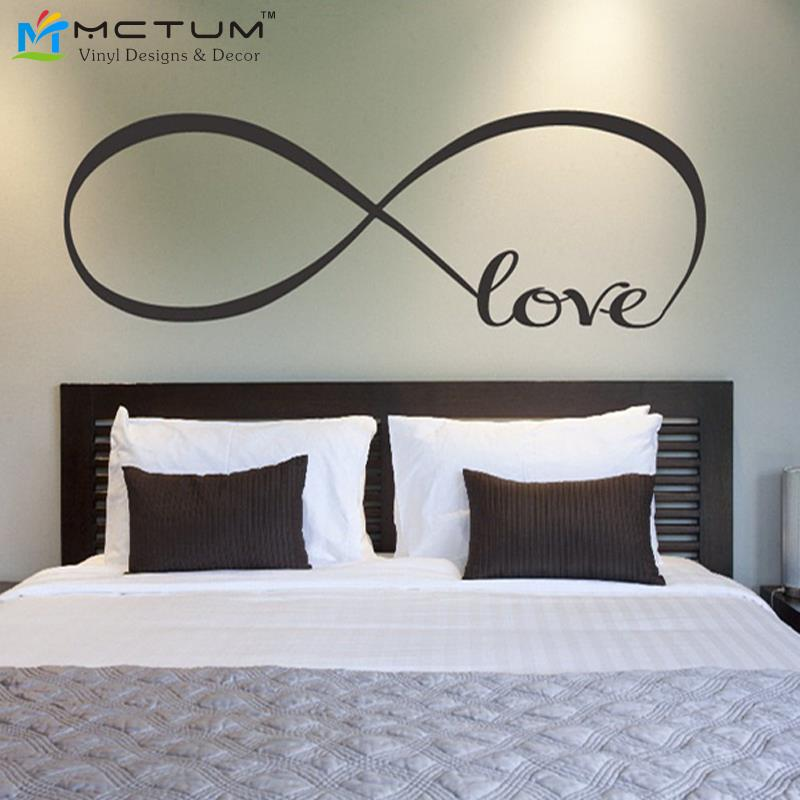 love infinity symbol bedroom personalized vinyl wallpaper