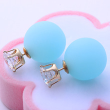 Korean jewelry simple matte pearl earrings earrings double long exaggerated retro Korean Fashion Earrings boucle d'oreille(China (Mainland))