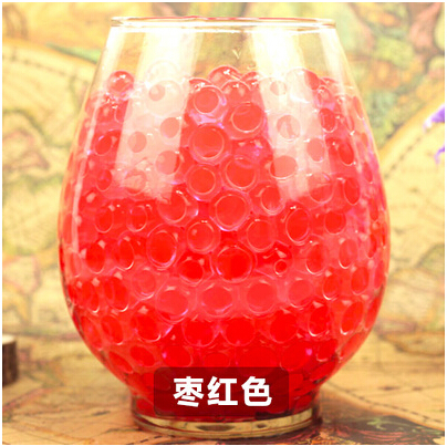 New Red Transparent color 100pcs/Bag Crystal Mud Soil Water Beads Bio Gel Ball For Flower/Weeding/Deraction(China (Mainland))