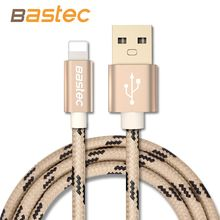 Bastec Newest 8 pin Metal Braided Wire Sync Data Charger USB Cable For iPhone 6 7 6s  plus 5 5s iPad 4 Air 2 Mobile Phone Cables