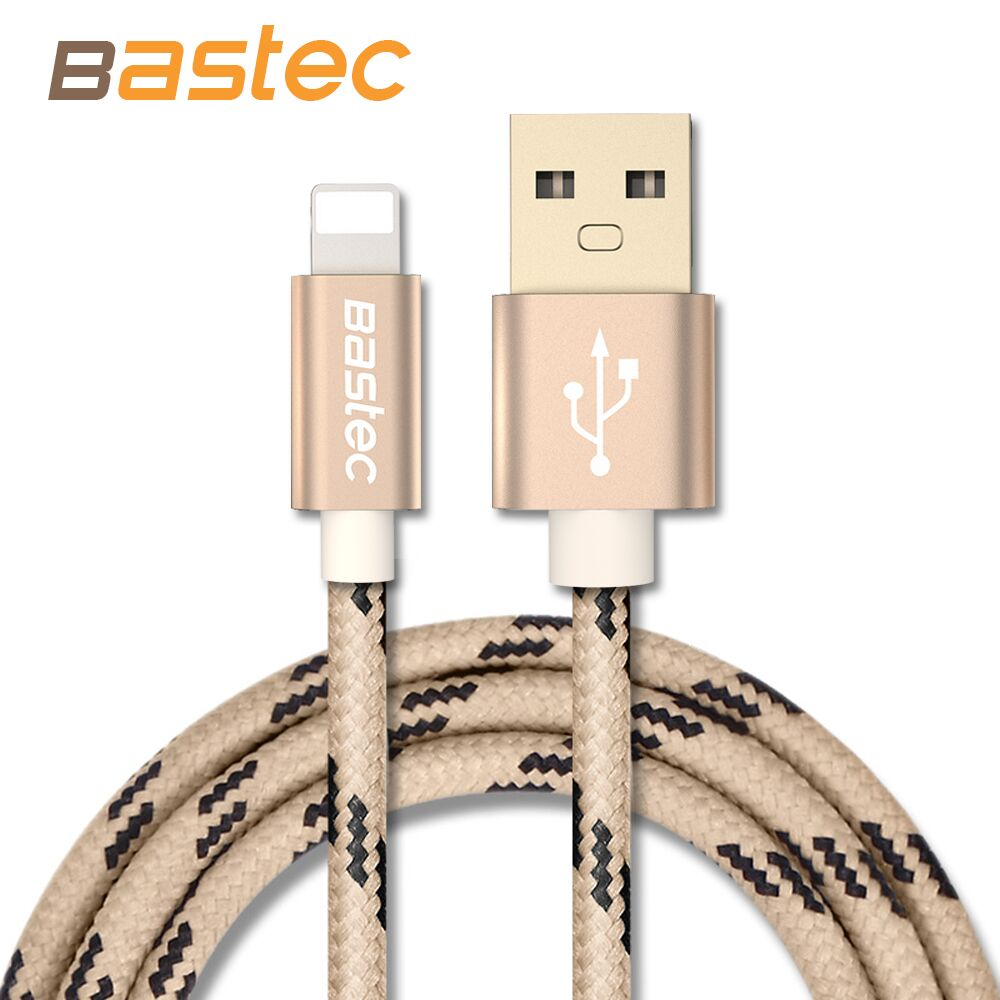 Bastec Newest 8 pin Metal Braided Wire Sync Data Charger USB Cable For iPhone 7 6s 6 plus 5 5s iPad 4 Air 2 Mobile Phone Cables(China (Mainland))