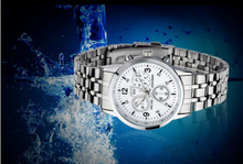 Luxury Men 30M Waterproof Stainless Steel Quartz Watch Shockproof Business Male Analog Wristwatch Accurate Time Dress