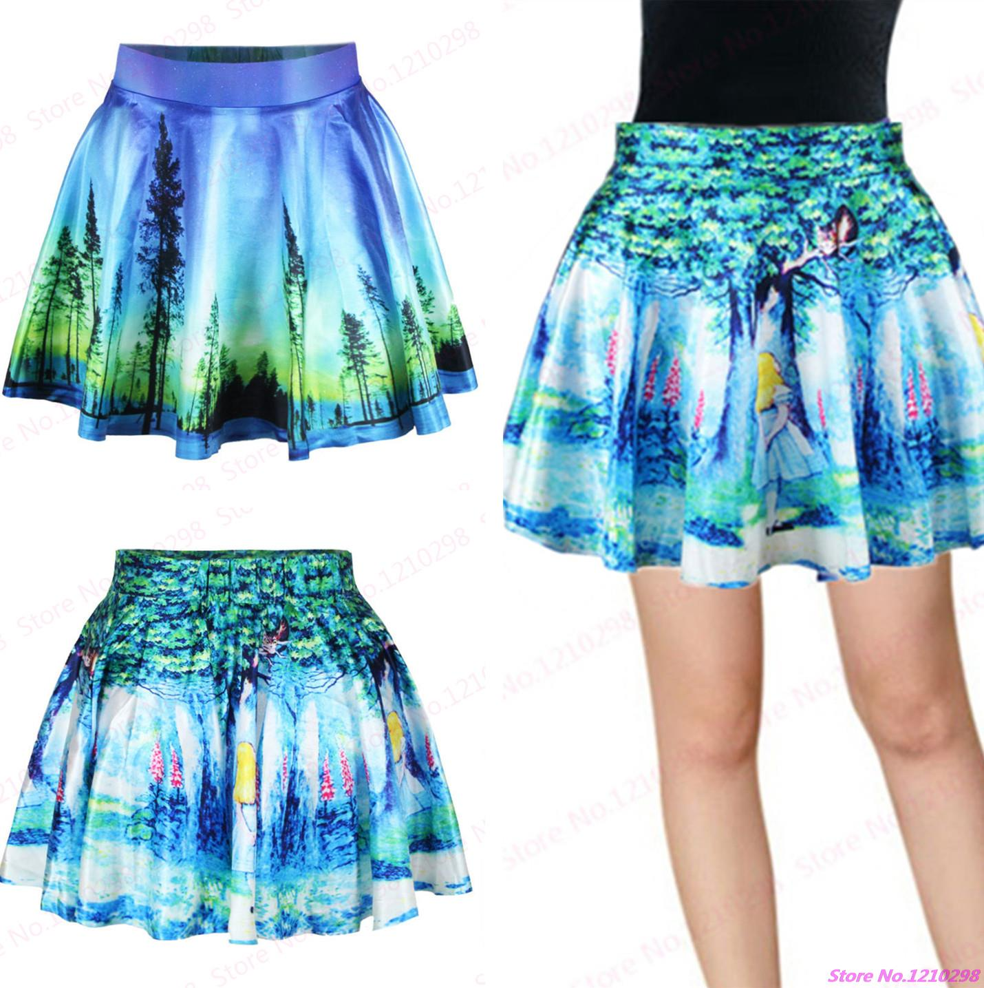 New Summer Gym Fitness Dance Sport Tennis Miniskirt Drop Shipping Pettiskirt Fairy Tales Skirts 3D Print