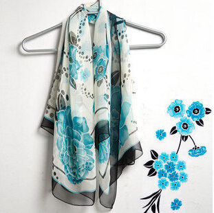 high quality silk scarf shawl women Thick women scarf Luxury high-grade Brand Designer chiffon scarf thin-b165(China (Mainland))