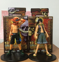 Buy Japan Anime 2Pcs One Piece Monkey D Luffy Portagas D Ace Brother PVC Action Figure Figures Collectibles Toys Gifts T3403 for $12.16 in AliExpress store
