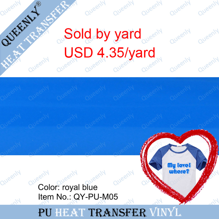 PU heat transfer vinyl flex Iron on Vinyl heat transfer film sold by yard 5 yards/pack width 18.9inch(China (Mainland))
