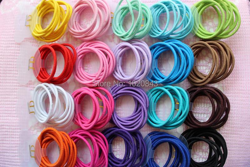 New Wholesale 100pcs/lot mix Colors Baby Girl Kids Tiny Hair Accessary Hair Bands Elastic Ties Ponytail Holder opp bag packing(China (Mainland))