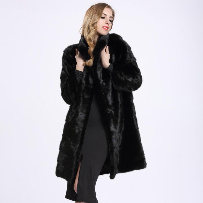 Russian Winter Women's Real Natural Mink Fur Coat Fashion Real Fur Coat, Slim, Slender, Assurance Fur,Women's Mink Coat BF-C0154(China (Mainland))