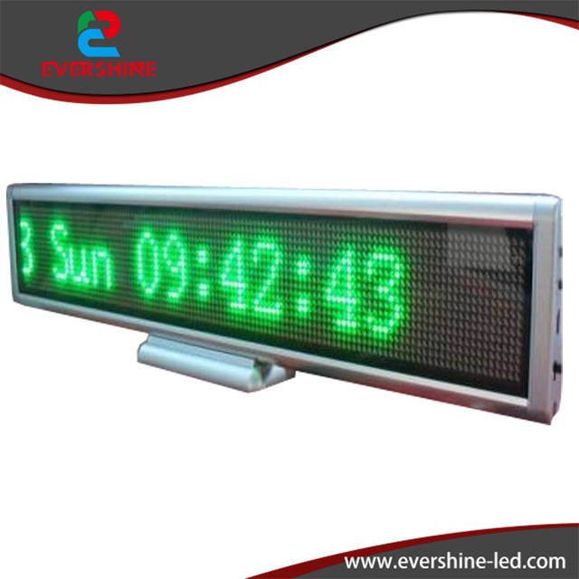 """Mini Pure green-color H4.33""""xW21.7"""" LED Advertising Board for School/ Hospital/ Office  Wholesale & Retail"""