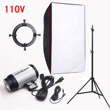 Photography Studio Soft Box Flash Lighting Kits 110v 250ws Storbe Light+Light Stand+Softbox+Universal Mount Photo Studio Set