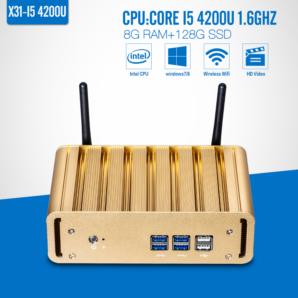 The Highest Ratio Of Mini Computer I5 4200U 8G RAM+128G SSD+WIFI All In One Desktop Pc Wireless Thin Client Home Computer(China (Mainland))