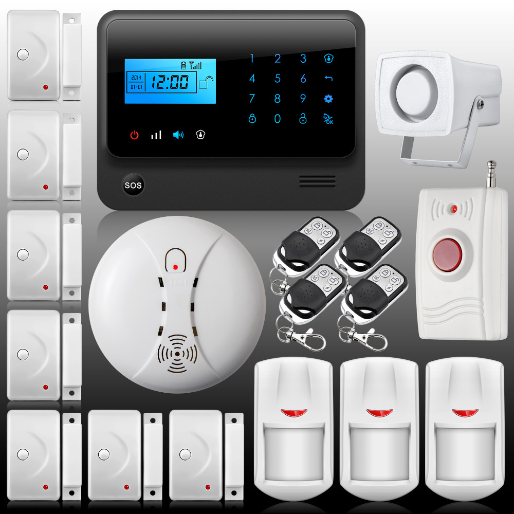 Security Alarm system GSM Wireless home security fire alarm system IOS & Android APP sms alarm system gsm security alarm system(China (Mainland))