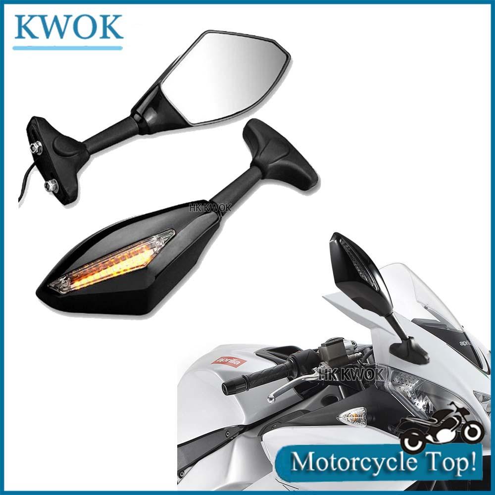 Здесь можно купить  Motorcycle LED Turn Signal Lights Indicators Rear View Side Racing Rearview Mirrors For Kawasaki For Yamaha YZF R1 R6 R6S   Автомобили и Мотоциклы