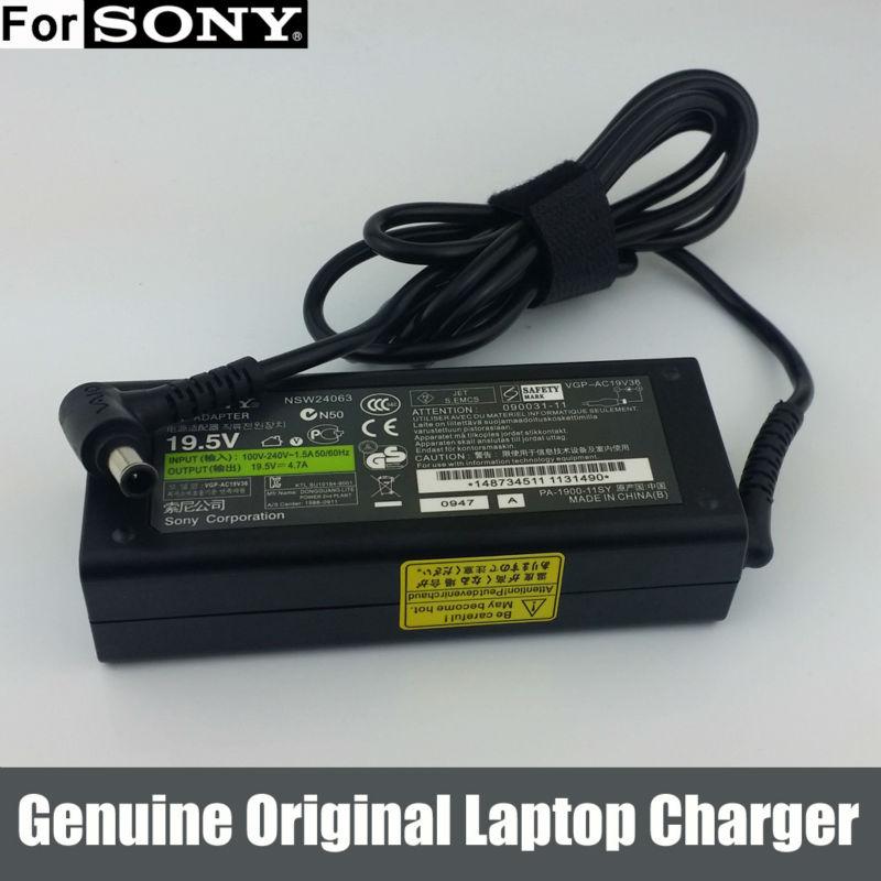 Genuine Original 19.5V 90W AC Adapter Charger for Sony VAIO PCG-7133L PCG-FX VGP-AC19V19 PCGA-AC19V11(China (Mainland))