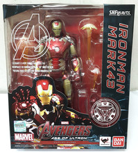 Avengers Age of Ultron S.H.Figuarts Iron Man Mark 43 PVC Action Figure Collectible Model Toy 15cm ZA035(China (Mainland))