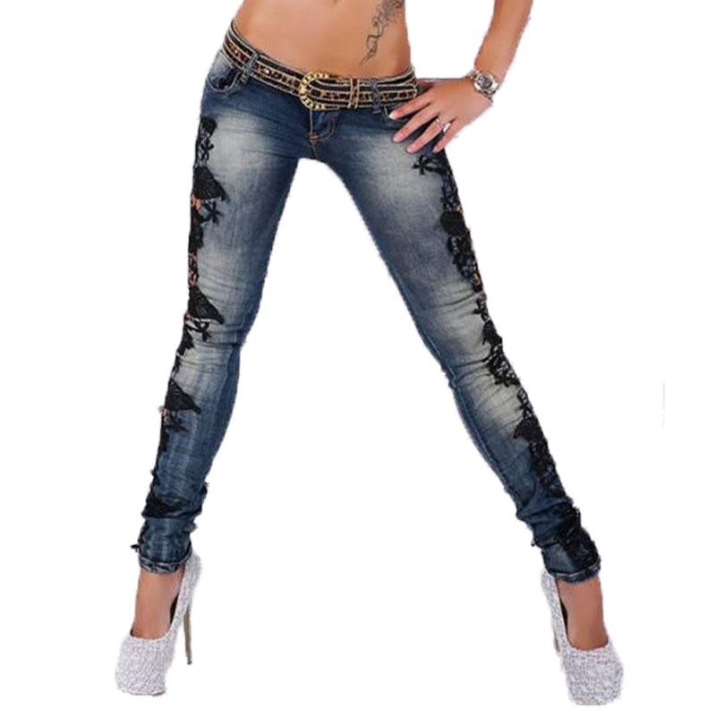 Fashion Skinny Jeans Women 2015 Hot Sale Slim Crochet Lace Denim Jeans Hollow Out Ladies Pencil Pants Boyfriend Jeans For WomenОдежда и ак�е��уары<br><br><br>Aliexpress