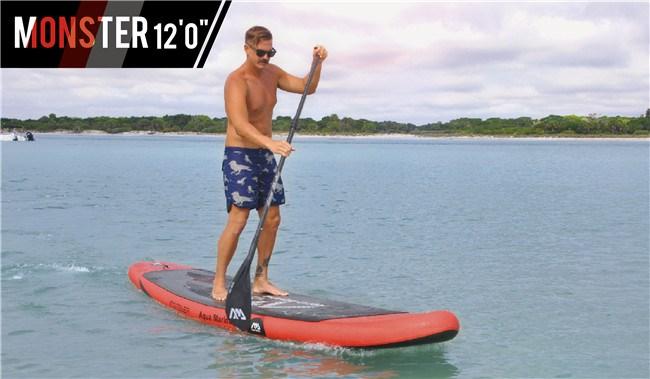 AQUA MARINA 12 feet MONSTER inflatable sup board stand up paddle board inflatable surf board surfboard,kayak,new fashion of SPK4(China (Mainland))