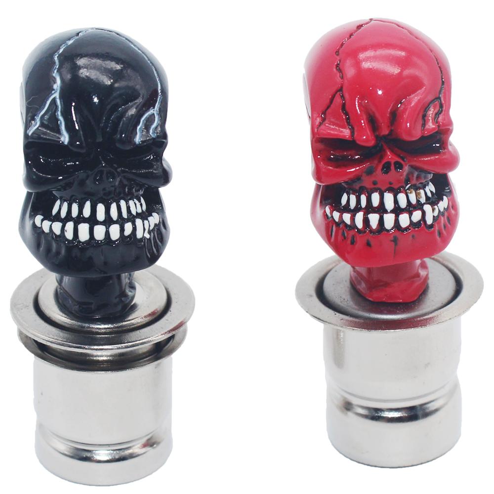 Universal Multicolor Car Cigarette Lighter Skull And Crossbones Design Skull Heads Car Electronic Cigarette Lighter Plug DC 12V(China (Mainland))