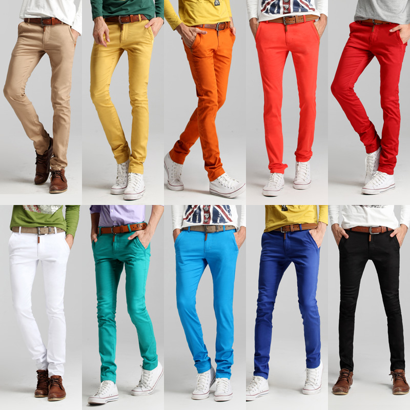 Mens colored casual pants – Global fashion jeans collection