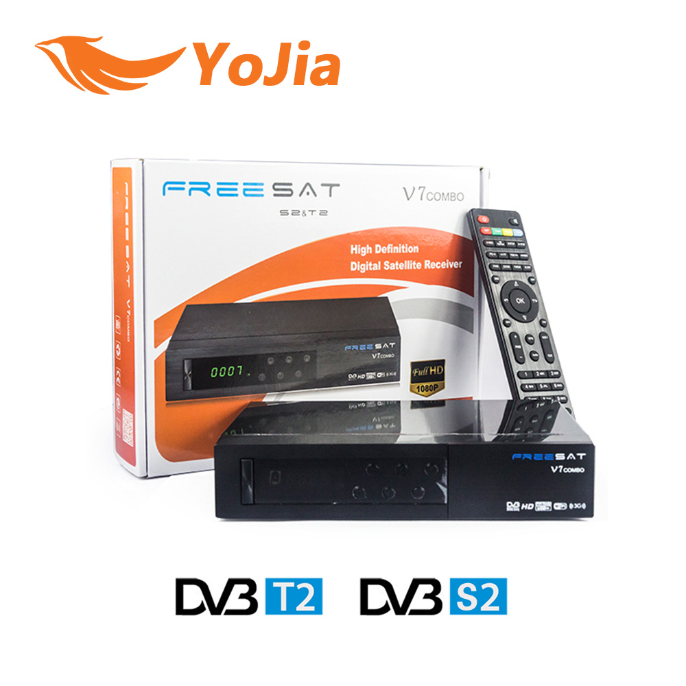 [Genuine] Freesat V7 Combo DVB S2 + DVB T2  Receiver Support PowerVu Biss Key Cccam Newcam Youtube Youporn 1080p HD Set Top Box