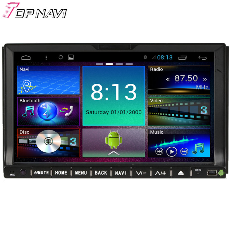 Top 7'' Quad Core Android 4.4 Car Stereo For Universal With Mirror Link 16GB Flash Radio Audio Video GPS Map DVD Free Shipping(China (Mainland))