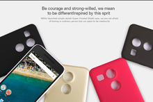 Nillkin for LG Nexus 5X nexus 5x (5.2 inch) case cover Frosted Phone Cases Plastic Hard Back Cover Case with screen protector(China (Mainland))