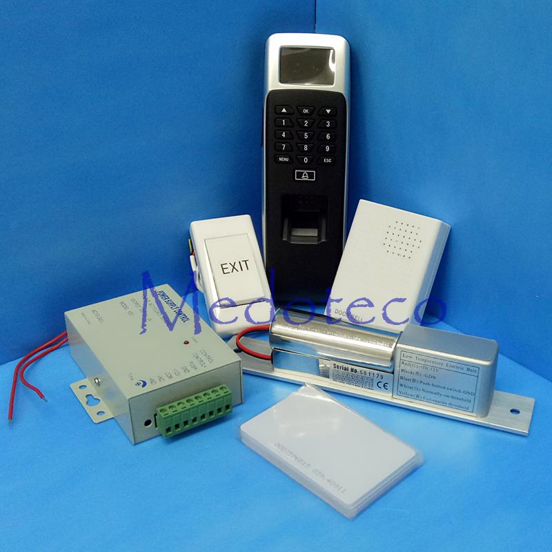 DIY Wood Door Access Control Kit Fingerprint & Rfid Card Door Security Access Control System With Low temperature Bolt Lock(Hong Kong)
