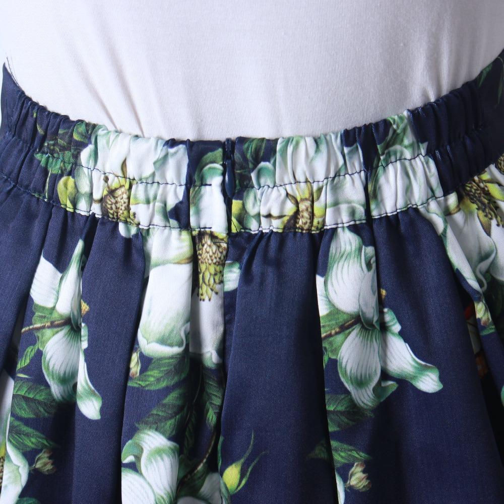 HTB1nxSvQFXXXXbDXFXXq6xXFXXX6 - GOKIC 2017 Summer Women Vintage Retro Satin Floral Pleated Skirts Audrey Hepburn Style High Waist A-Line tutu Midi Skirt