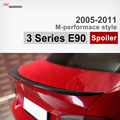 M Performance style E90 carbon fiber trunk spoiler car wing for BMW 3 series E90 2005