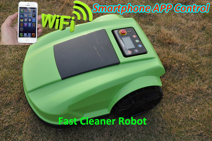 Newest WIFI App Robot Grass Cutter Lawn Mower Robot S520 Updated with Water-Proofed Charger,Subarea Function,Range Function<br><br>Aliexpress