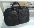 Nesitu Black Color Real Genuine Leather Men Messenger Bags Business Travel Bag Portfolio 14 inch Laptop