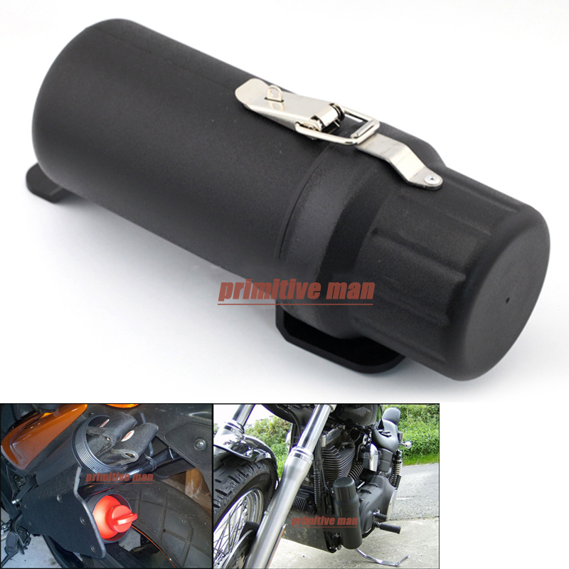Universal Motorcycle Waterproof Tool Tubes Gloves Raincoat Box with Anti-theft Lock Ring