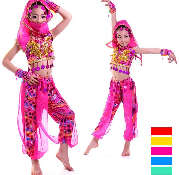 Kids Belly Dance Costume Child Indian Dancing Girl's Performance Clothing Children Dress Girls - DShine store