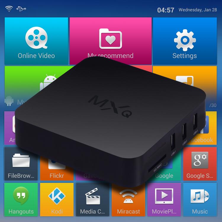 MXQ Kodi Tv Box Amlogic S805 Quad Core Google Android 4.4 Kitkat 1GB RAM 8GB ROM Support H.265 Smart Media Player Android Tv Box(China (Mainland))