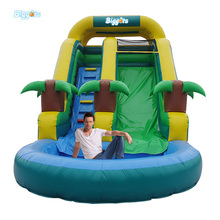 Cheap Inflatable Water Slides with Round Pool for Sale(China (Mainland))