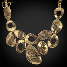 U7 Античный /Посеребренный Ретро Макси Оболочка Ожерелье Ювелирные Изделия Для Женщины Винтажные Украшения N489(China (Mainland))