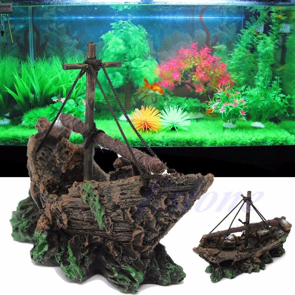 Buy free shipping hot aquarium ornament for Aquarium decoration shipwreck