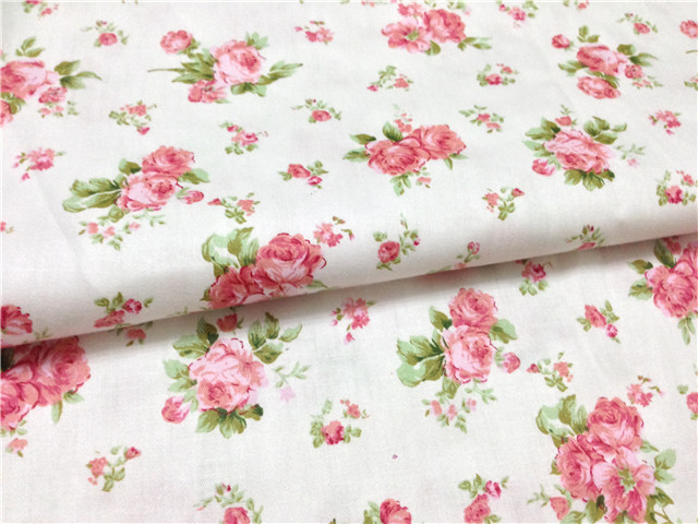 50cm 160cm rose 100 cotton print twill fabric kids bedding for Kids cotton fabric