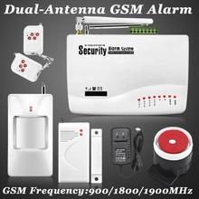 Nueva inalámbrico / con cable GSM de voz Home ladrón de la seguridad Android IOS sistema de alarma de marca Auto del sintonizador SMS control remoto ajuste(China (Mainland))