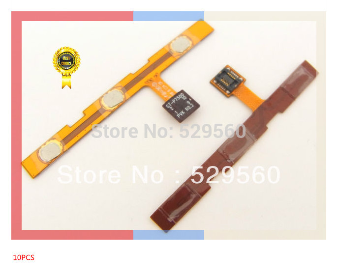 100%working OEM For  Galaxy Tab 10.1 P7500 Volume Power Keypad Flex Cable 10PCS/lot Free shipping<br><br>Aliexpress