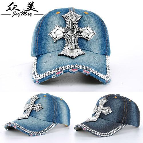 Caps Limited Hats 2015 Brand New Fashion Jean Baseball Hat Cap Rhinestone Glasses Decorated Sports Snapback For Woman Man B141(China (Mainland))