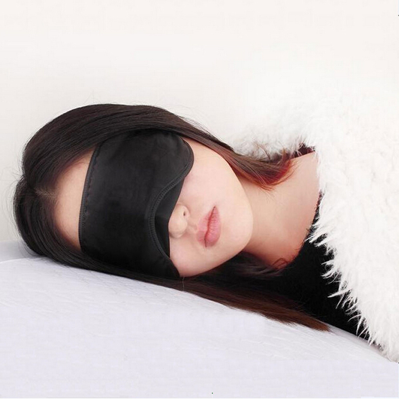 Гаджет  hot sale Travel Rest Sponge Eye MASK Black Sleeping Eye Mask Cover for health care to shield the light eyeshade relieve fatigue  None Красота и здоровье