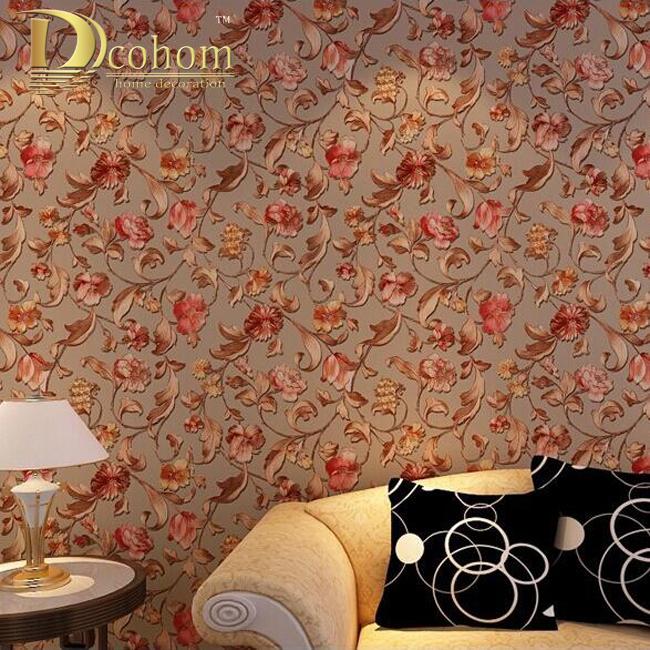 Buy the high grade 3d gold relief rose for 3d rose wallpaper for bedroom