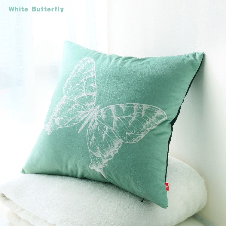 Quirky Throw Pillows : High quality Kid room decoration butterfly cushions decorative pillows green forest brown sofa ...