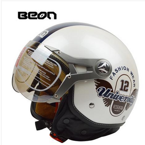 2015 hot sale BEON motorcycle helmet /vintage mens womens moto capacete / half face helmet ECE Approved(China (Mainland))