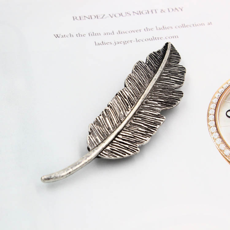 Free Shipping brand vintinge antique silver plant leaf hairpins barrette hairpin bridal hair accessories elegant(China (Mainland))