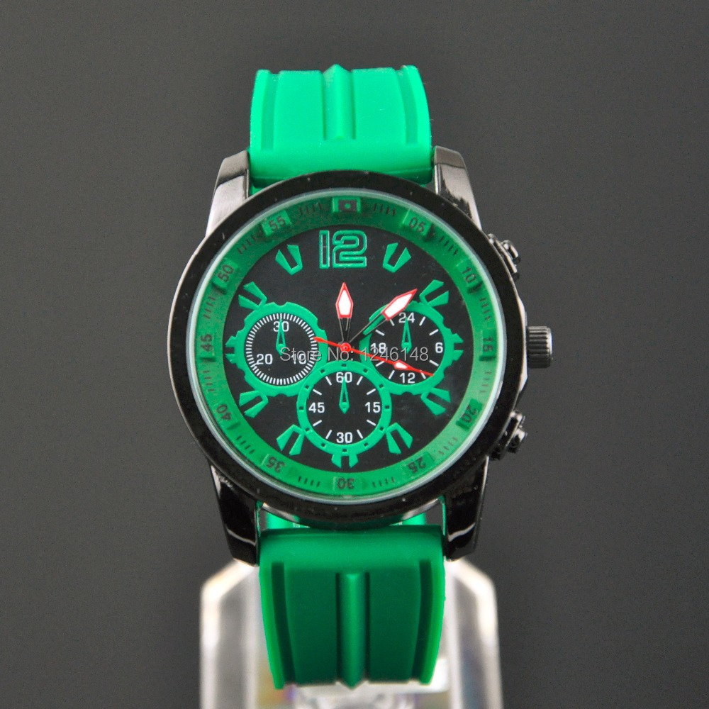new product cool men watches free shiping watches men black green watches(China (Mainland))