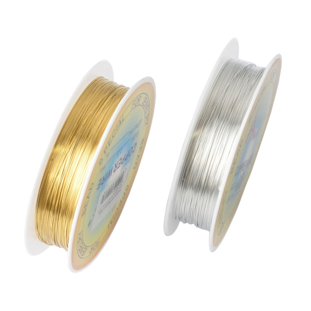 2018 Wholesale 0.25/0.3/0.4/0.5/0.6mm 1 Roll Alloy Cord Silver Gold ...