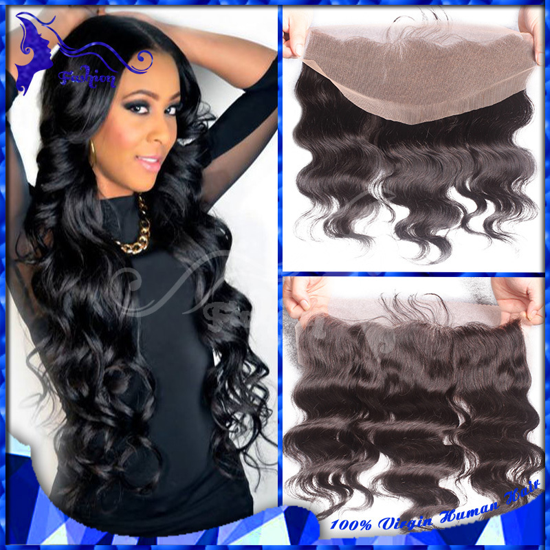Cheap Body Wave Frontal Malaysian 13X4 Virgin Human Hair Full Lace Frontal Closures With Baby Hair Ear To Ear Lace Frontal Stock(China (Mainland))