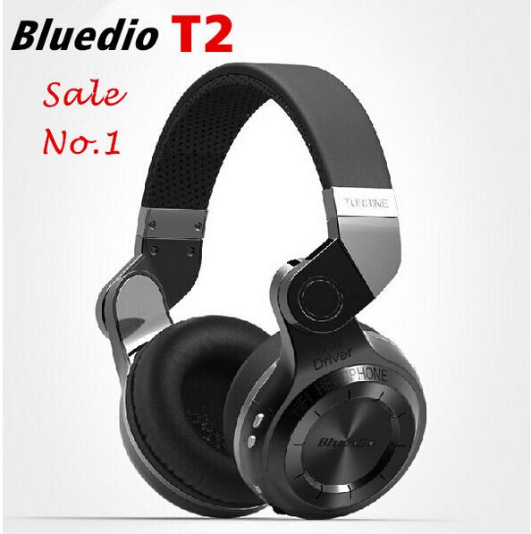 Bludio casque Bluedio T2 Turbo sans fil Bluetooth 4.1 casque stéréo casque de bruit avec micro haute basse qualité(China (Mainland))